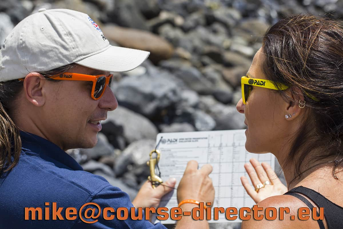 PADI Course Director - Tenerife  fota contact - Contacto