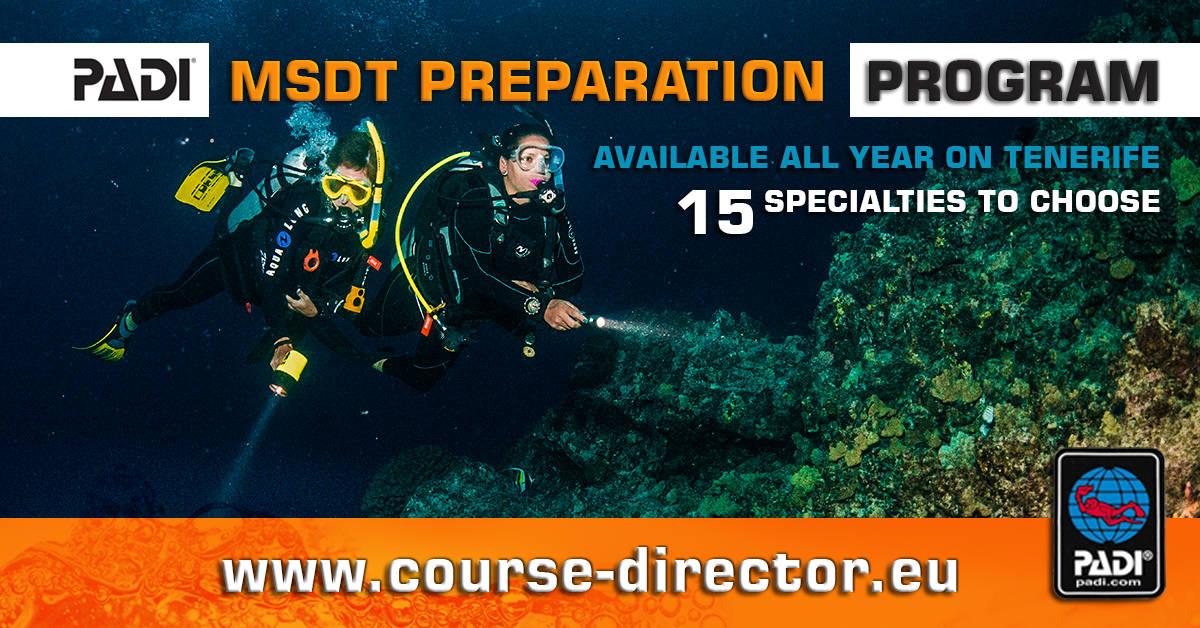 PADI Course Director - Tenerife  MSDTgotowy - PADI MSDT